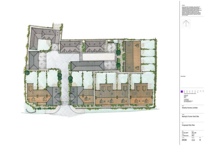 111 Proposed Coloured Site Plan